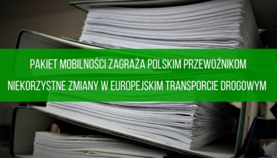 Niekorzystne zmiany w europejskim transporcie drogowym