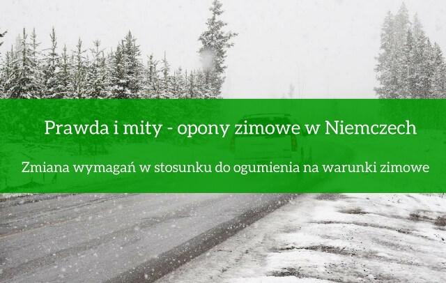 Zmiana wymagań w stosunku do ogumienia na warunki zimowe