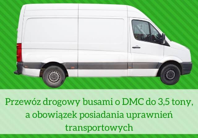 Przewoz drogowy busami o DMC do 3,5 tony, a obowiazek posiadania uprawnien transportowych