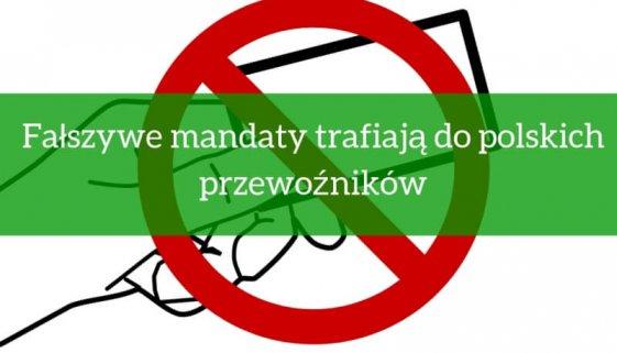 Fałszywe mandaty trafiają do polskich przewoźników