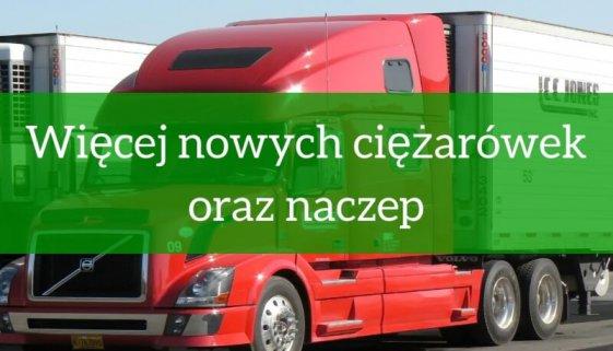 Więcej nowych ciężarówek oraz naczep- raport 2018